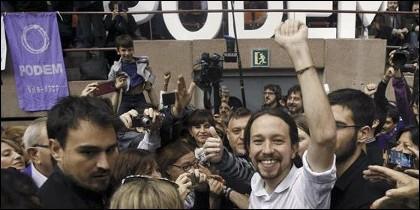 Pablo Iglesias en Barcelona