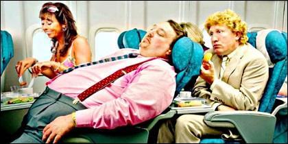 Avión, pasajero, turista, clase y servicio aéreo.