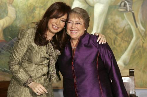 Michelle Bachelet y Cristina Kirchner