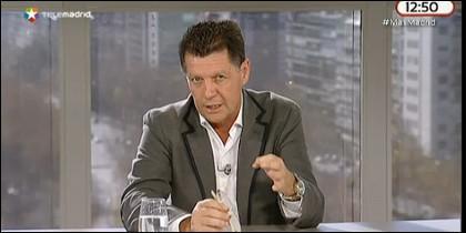 Alfonso Rojo, moderador de la mesa de 'Más Madrid'.