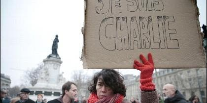 'Todos somos Charlie Hebdo': manifestación co9ntra los asesinatos islamistas.