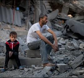 Gaza devastada