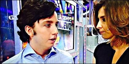 El 'Pequeño Nicolás' con Sandra Barneda.