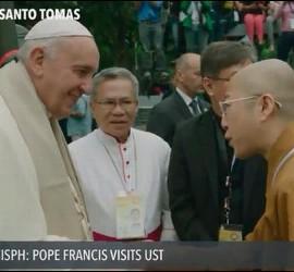 El Papa, con líderes de otras religiones