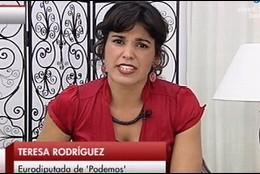 Teresa Rodríguez, de Podemos.