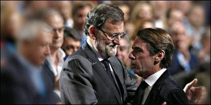 Arenas, González Pons, Rajoy y Aznar.
