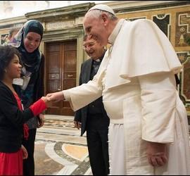 Bergoglio, durante la audiencia de este sábado
