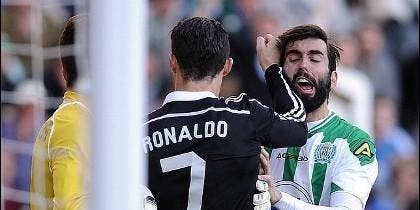 La falta de Cristiano Ronaldo a Edimar.