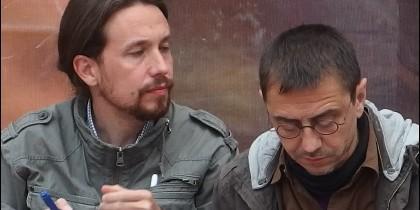 Iglesias y Monedero no dan la cara.