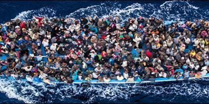 Emigrantes en patera