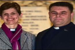 Lane, la nueva obispa anglicana, y su marido