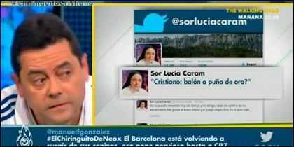 Tomás Roncero ante los tuits de Sor Lucía Caram.