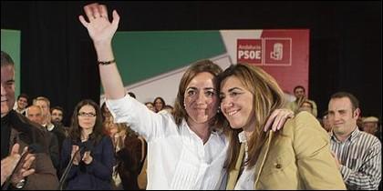 La niña de ZP y la presidenta andaluza.