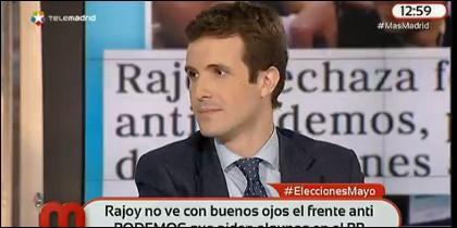 El portavoz electoral del PP.