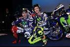 Jorge Lorenzo y Valentino Rossi presentan su nueva 'arma' de competición