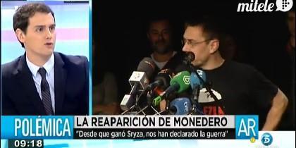 El líder de Ciudadanos, muy crítico con el de Podemos.
