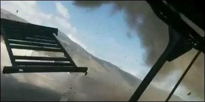 El impacto de las granadas