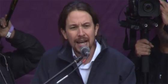 Pablo Iglesias en el acto de Podemos. 31 01 2015