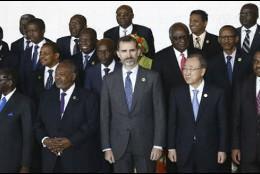 El Rey con los mandatarios de la Unión Africana