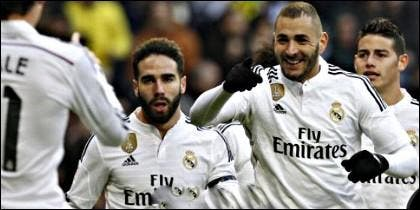 Bale, Carvajal, Benzema y James.