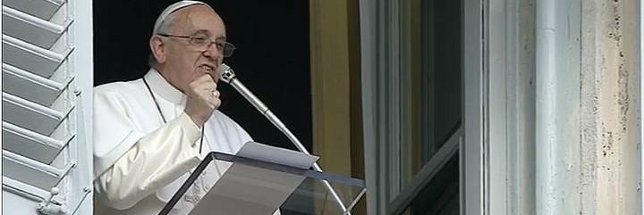 Francisco, hoy, durante el Angelus