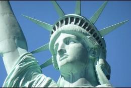 La Estatua de la Libertad.