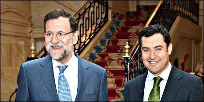 Mariano Rajoy y Juanma Moreno.