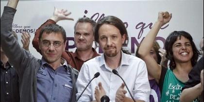 La plana mayor del partido de Pablo Iglesias.