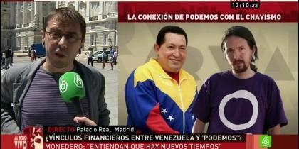 Monedero, Pablo Iglesias, Hugo Chávez, Venezuela y Podemos.