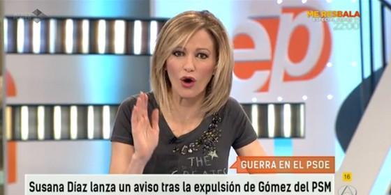 Susanna griso deja hecho unos zorros a pedro s nchez ahora la democracia es patada en la - Espejo publico hoy ...