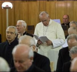 El Papa, en los ejercicios espirituales de la Curia
