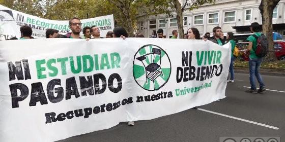 Huelga de estudiantes.