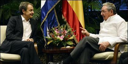 José Luis Rodríguez Zapatero y Raúl Castro.