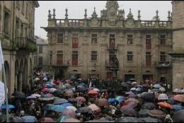 Manifestación 3+2 en Galicia.