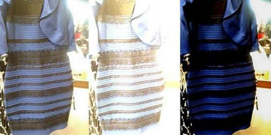 El enigma del vestido blanco y dorado