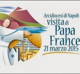 Logo de la visita del Papa a Nápoles