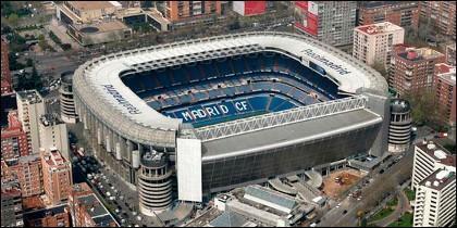 El Santiago Bernabéu, estadio del Real Madrid.