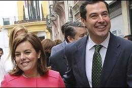 Soraya Sáenz de Santamaría y Juama Moreno