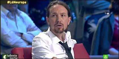 Pablo Iglesias, en la tele amiga.