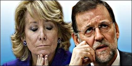 Esperanza Aguirre y Mariano Rajoy.