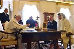 El Papa, con los reyes belgas