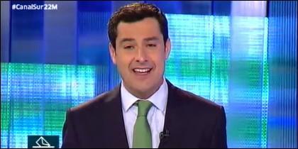 Juanma Moreno en debate electoral en Canal Sur.