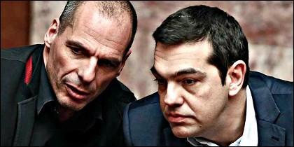 Varoufakis con Tsipras.