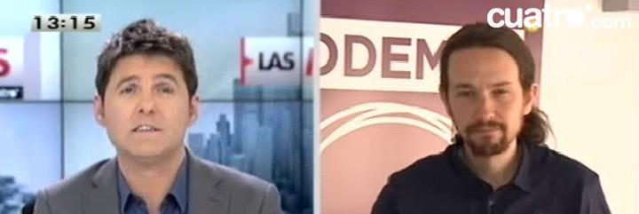 Jesús Cintora y Pablo Iglesias.