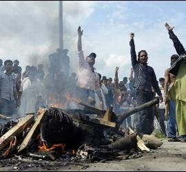 Protestas contra los atentados en Lahore