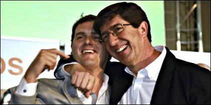 Albert Rivera y Juan Marín.