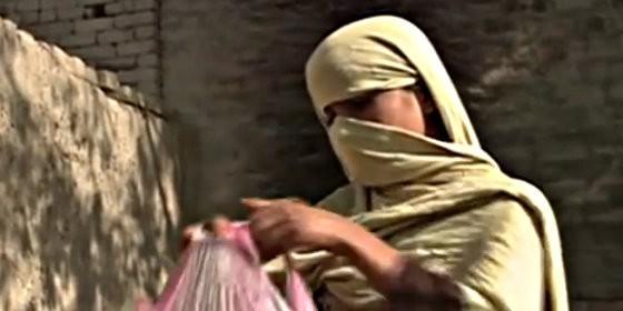 Sania, la mujer violada en grupo en Pakistán.