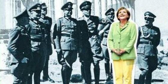 Resultado de imagen de Una portada de 'Spiegel' con Merkel entre nazis desata una polémica mediátic
