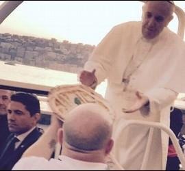 Una pizza para el Papa