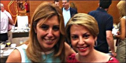 Susana Díaz con Irene Sabalete.